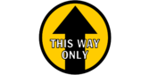 This Way Only Directional Floor Graphics