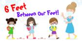 6 Feet Between Our Feet Social Distance Banner