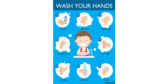 Students Wash Your Hands School Lavatory Banner